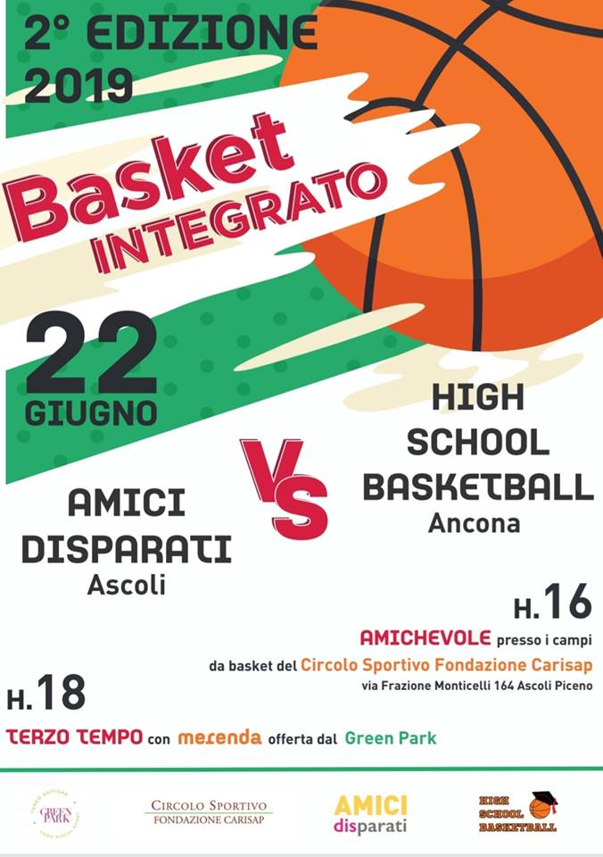 8ffe5969bb6e52 2a edizione del torneo di basket integrato Amici Disparati vs High School  Basketball